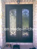 Вставки двери ковки чугуна льва Xiamen стеклянные для дома