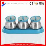 بالجملة يتيح تنظيف تخزين مرطبان زجاجيّة مع ملعقة وصينيّة