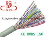 Câble d'acoustique de connecteur de câble de transmission de câble de caractéristiques de câble du câble UTP/FTP/SFTP 24AWG CCA/Cu/Computer de la gestion de réseau Cat5e/Cat5