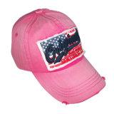 Venta caliente lavada personalizado gorra de béisbol con fieltro apliques Gjwd1754