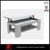 Alzare il tavolino da salotto caspico di rivestimento della noce del coperchio moderno superiore di memoria
