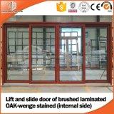 Elevatore resistente e fare scorrere portello di vetro di alluminio di legno fatto per il cliente dell'America