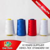 40/2 de venda por atacado girada 100% da linha Sewing do poliéster, linha Sewing barata, Sewing da linha do poliéster