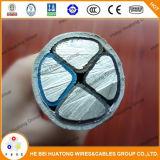 0.6 / 1kv 4 Core 95mm2 150mm2 240mm2 Solid Aluminium XLPE / PVC isolant PVC Jacket Câble d'alimentation pour le marché européen Eaxvb