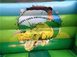 楽しみのためのピンクの恐竜の膨脹可能な警備員