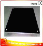 le logo de 12V 50W gravent la chaufferette noire en caoutchouc de silicones de la profondeur 0.2mm