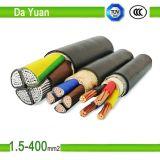 2 câble d'alimentation de cuivre isolé par PVC du faisceau Yjv23 2*50mm2