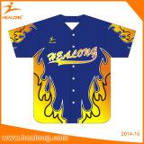 Basebol feito sob encomenda Jersey da forma do OEM do Sublimation de Healong