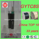 Figura autosufficiente 8 cavo di fibra ottica di memoria di GYTC8S 6 del filo d'acciaio di figura per l'antenna