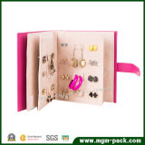Novo Design inovador de couro em forma de livro jóias Organizador