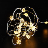 2.7m 15 Bollen Kerstboom decoratieve PVC Wire LED Batterij String Light voor Festival decoratie