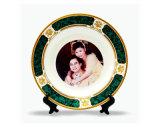 Plaque en céramique de RIM du blanc vert 8 de couleur '' pour la sublimation