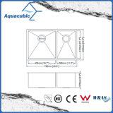 Fregadero de cocina artificial caliente del acero inoxidable de la exportación de China (ACS3119A2)