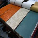 PVC caldo Synthetic Leather di Selling Embossed per Upholstery