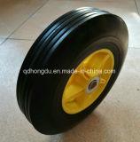 Una rotella di gomma solida gialla da 10 pollici