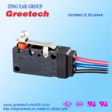 Impermeabilizar y sacar el polvo del interruptor micro de la prueba usado para los aparatos electrodomésticos