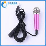 La mini voce di karaoke del microfono di condensatore che registra il calcolatore del telefono mobile canta il microfono miniatura del Mic