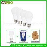 Plástico con bulbo de aluminio LED con E26 E27 B22 Socket