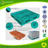 Pálete plástica da grade lateral dobro colorida para a cremalheira do armazenamento