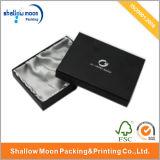 絹のライニングの荷箱(QY150034)とのLuxruyの黒