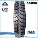 La vente en gros 10 camion indien de tube du marché 20 Yb900 bande le pneu radial de camion du certificat 1000/20 de BRI