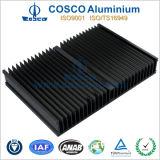 証明されるISO9001による電気分解アルミニウム脱熱器(黒い陽極酸化のフィルム)
