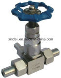 Válvula de aguja roscada fabricante del acero inoxidable 10000psi de En10226