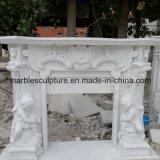 Chaminé branca do mármore da bordadura da estátua (SY-MF21)