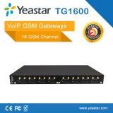 Puerto de la tarjeta de Yeastar 16 SIM entrada de VoIP G/M de 16 puertos del G/M