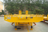 acoplado amarillo de 3-Axles Lowboy semi con la escala