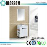 Белый шкаф ванной комнаты PVC тщеты мебели гостиницы дома отделки лака (BLS-17281A)