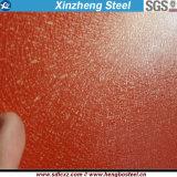 Bobine en acier galvanisée enduite d'une première couche de peinture du matériau de construction PPGI pour la feuille de toiture