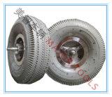 Roue en caoutchouc gonflable 4.00-8 de brouette de pneu avec l'essieu
