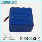 7.4V 8800mAh 18650 intelligenter Li- Ionenbatterie-Satz