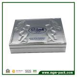 Коробка резьбы специальной вышивки золочения кожи серебра способа деревянная косметическая