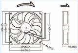 높은 Cfm DC 무브러시 12V 140mm 케이스 팬 140X140X25mm 냉각팬