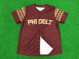 Camisola 100% Sublimated do basebol do Mens do poliéster ajuste seco