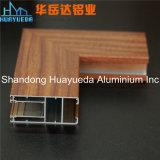Profils en aluminium d'extrusion de fini du bois employé couramment
