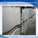 Placa de metal perfurada ondulada de alumínio com onda
