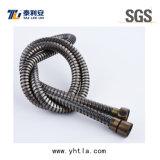 tubo flessibile di acquazzone flessibile placcato ottone antico di estensione dell'acciaio inossidabile di 1.5m (L1010-S)