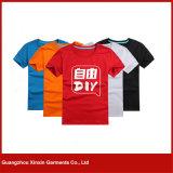 T-shirts publicitaires en ligne bon marché en Chine avec son propre logo (R35)
