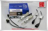 Farol do diodo emissor de luz da microplaqueta 4800lm do CREE Xhp50 do farol do diodo emissor de luz da luz H1 do carro do diodo emissor de luz