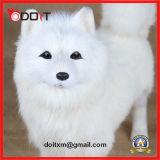 Het witte Gevulde Bevindende Stuk speelgoed van de Hond van de Pluche van de Hond van het Stuk speelgoed