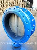 Gezeichnetes Doppelt-Flansch-Drosselventil des Form-Stahl-EPDM