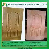 Piel de la puerta del molde de HDF con la chapa