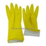 Luvas de limpeza de borracha Luvas de cozinha de látex domésticas amarelas