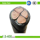 3 PVC Insulated Copper Electric Cable du noyau 185mm2 240mm2