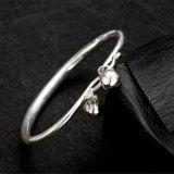 925 braccialetti d'acciaio sterlina il disegno a forma di rotondo del braccialetto d'argento più popolare
