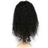 Peluca rizada rizada llena de las mujeres del pelo humano del negro del cordón