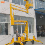 Single Man Lift를 위한 8m Four Wheels Boom Lift